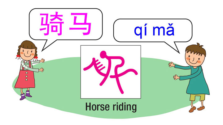 learn sports in Chinese - horse riding